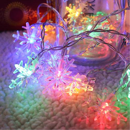 2M 20LEDs Snowflake Fairy String Light