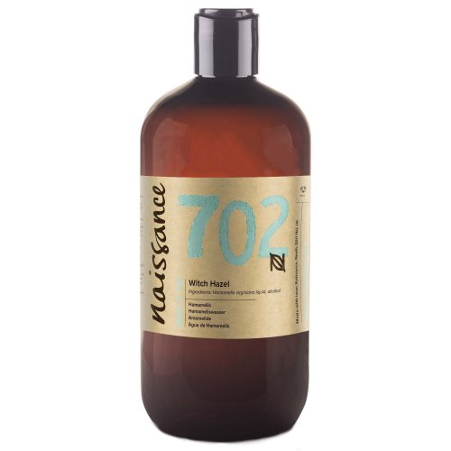 Naissance Distilled Witch Hazel (no. 702) 500ml - Pure, Natural, Cruelty Free, Vegan - Cleansing & Toning - Ideal for Aromatherapy, Skincare and...