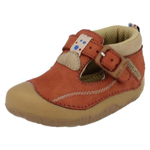 Boys Startrite Casual Pre Walker Shoes Tiny - Tan Nubuck - UK Size 2G - EU Size 17.5 - US Size 3
