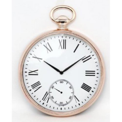 Wall Clock Gold Pocket Fob Watch Contemporary Style Decor 38cm