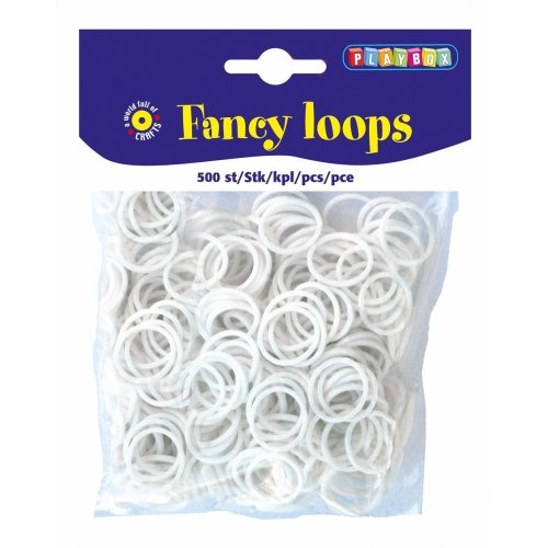 PBX2471094 - * Playbox - Loops (Loom Bands) - 500pcs white