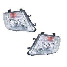 Nissan Navara 3/2010-2014 Headlights Headlamps Chrome Inner 1 Pair O/s & N/s
