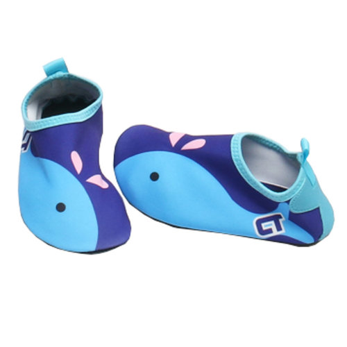 Children Sand Socks Water Skin Shoes Diving Socks,Blue Whale 20.4cm