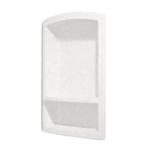 Swanstone RS 2215 011 Solid Surface Single Shower Shelf 4 3125 in L X 15 in H X 22 in H Tahiti White