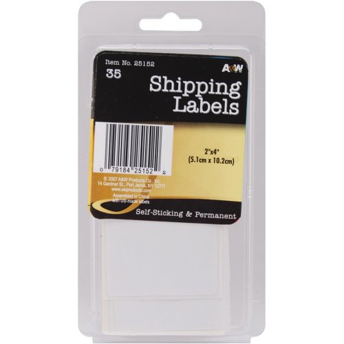 "Labels-Shipping 2""X4"" 35/Pkg"