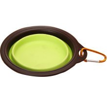 Portable Pets Bowls Dogs Bowls Cats Bowls Pet Supplies Dog Accessories- Green