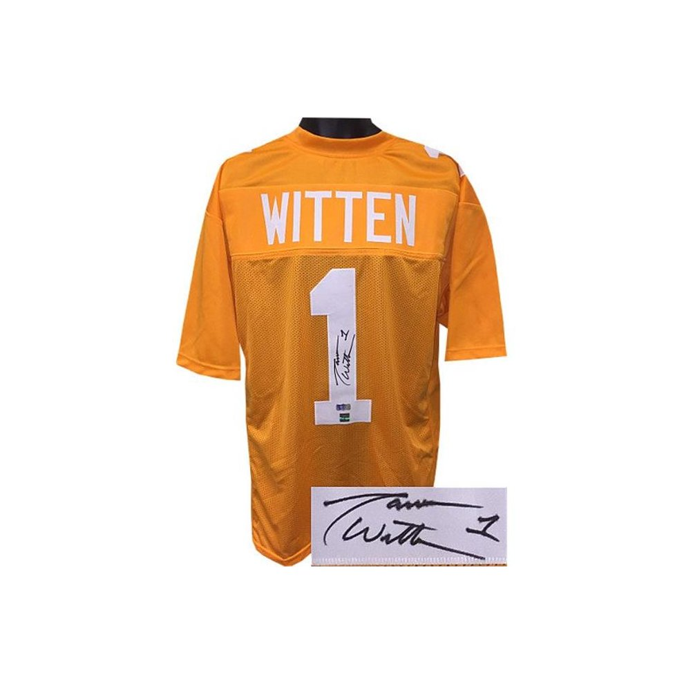 finest selection 84ca1 61bc1 RDB Holdings & Consulting CTBL-021716 Jason Witten Signed Orange Athlon  sports collectibles Stitched College Football Jersey - Extra Large