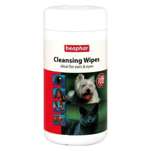 Beaphar Cleansing Wipes 100pk (Pack of 6)