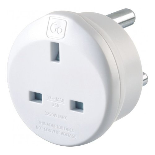 Go Travel Earthed UK to South Africa Compact Earthed Adaptor Converter (Adapter Ref 530)
