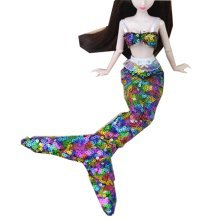 Set of 2 Beautiful Exquisite Mermaids Suits Doll Dress For 11.81-inch Doll-Pink