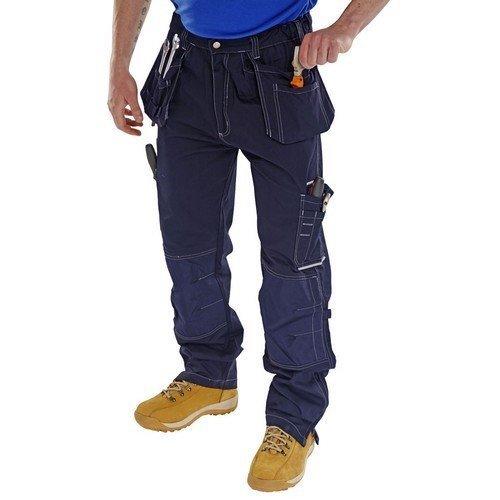 "Click SMPTN30T Shawbury Multi Pocket Work Trousers Navy Blue 32"" Tall"