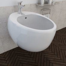 Wall Hung Bidet White Ceramic