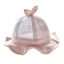 Light Pink Foldable Beach Hat Gift Baby Hat Cotton Sunhat Summer Hat Lovely Cap