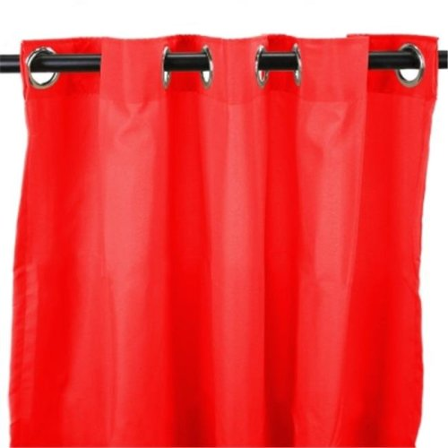 Jordan Manufacturing 3VOC5496-1326Q 54 in. x 96 in. Outdoor Curtain - Solid Red