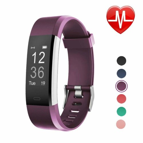 LETSCOM Fitness Tracker, Heart Rate Monitor Smart Watch with Sleep Monitor Step Counter Pedometer, Wireless Activity Tracker Watch, IP67 Waterproof...