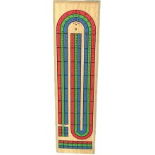 Three-Handed Wooden Cribbage Board | Tabletop Crib Board