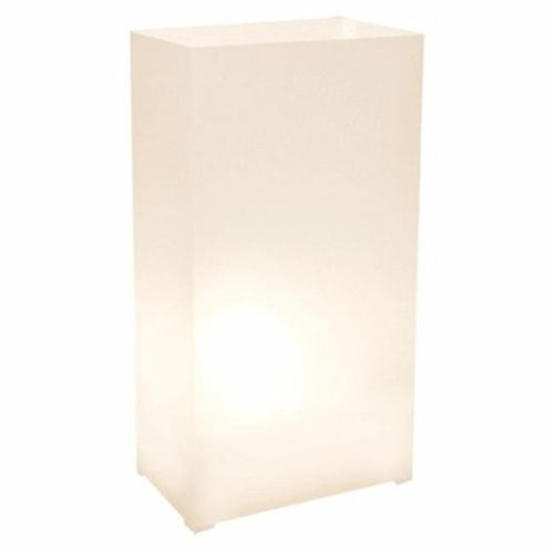 JH Specialties 31812 Plastic Luminarias- White-12 Count
