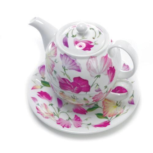 Roy Kirkham Sweet Pea Tea for One Set, Pink