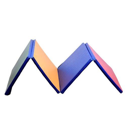 Homcom Folding Yoga Mat   Multicoloured Foldable Fitness Mat