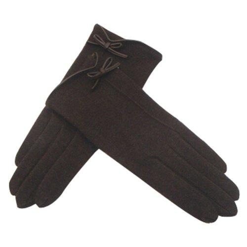 Wool Gloves Autumn And Winter Keep Warm Touch Screen Gloves Dark Coffee