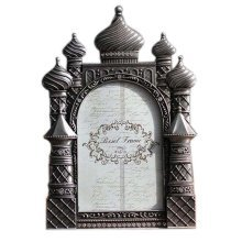 6-inch Photo Frame Castle Photoframe and Home Decoration, Silver