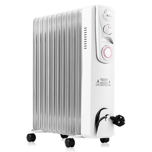 2500W 11Fin Oil Filled Radiator With Timer & Thermostat