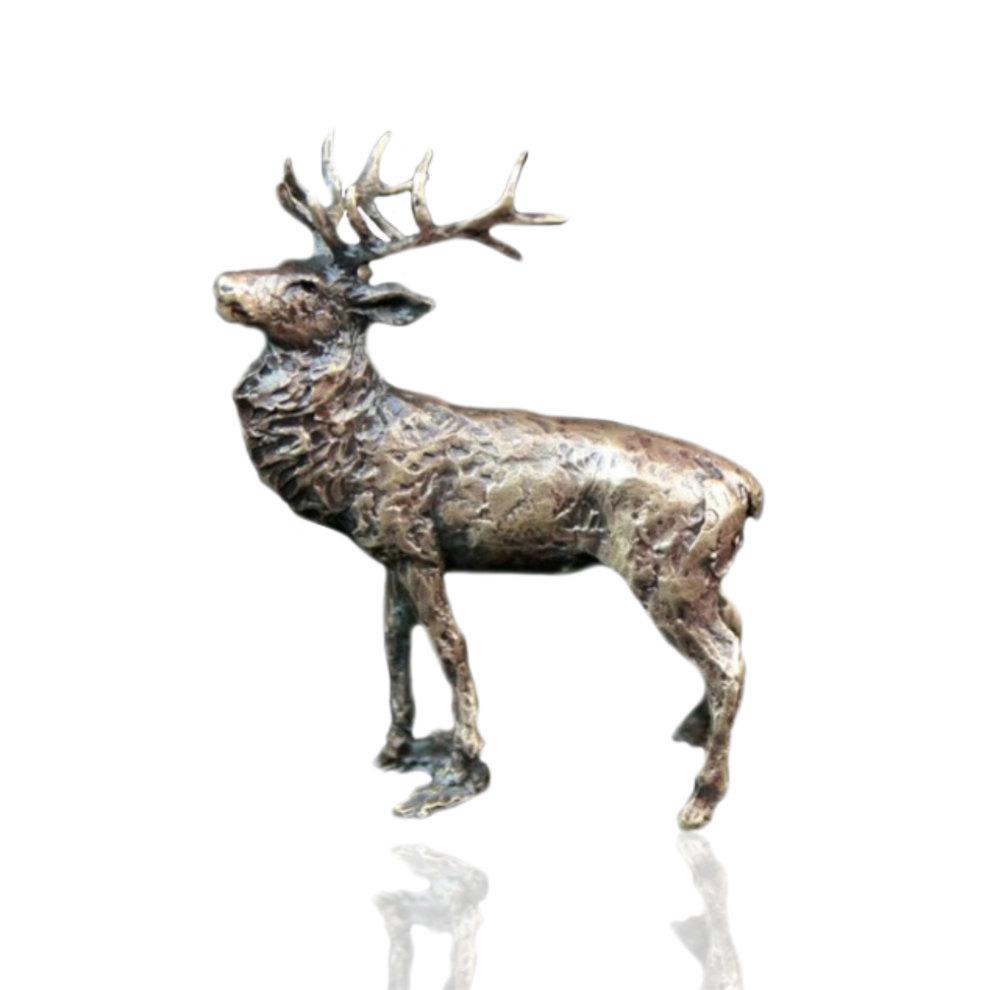 bronze stag figure butler peach 2050 on onbuy. Black Bedroom Furniture Sets. Home Design Ideas