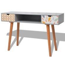 243705 vidaXL Console Table MDF 120x40x78 cm Grey