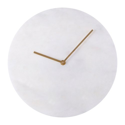 Lamonte White Marble Wall Clock