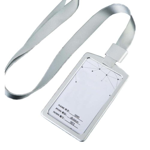 Aluminum Alloy Vertical Style ID Card Badge Holder with Neck Lanyard Strap 3PCS, 27