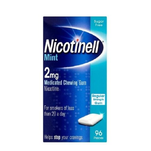 Nicotinell Mint 2mg Medicated Gum Sugar Free 96 Pieces