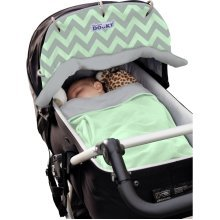 Dooky Reversible Shade Mint Grey Chevrons