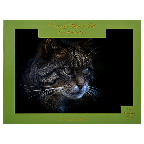 Country Matters Stalking Cat Glass Work Top Saver