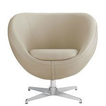 Balisy Modern Swivel Chair in Beige Contemporary Funky Design