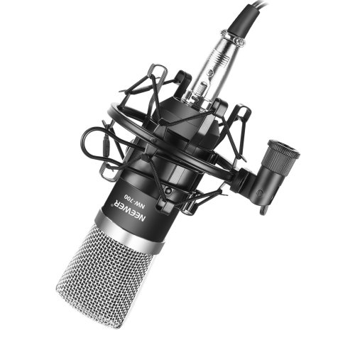 Neewer® NW-700 Professional Studio Broadcasting & Recording Condenser Microphone Set Including: (1)NW-700 Microphone + (1)Shock Mount +...