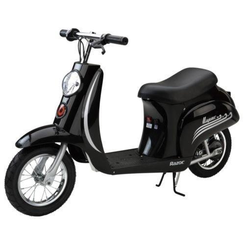 Razor Pocket Mod Vapour Kids Electric Ride On Bike Scooter Moped Black 15mph