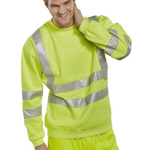 Click BSSENSYXXL Hi Vis Yellow Sweatshirt XXL