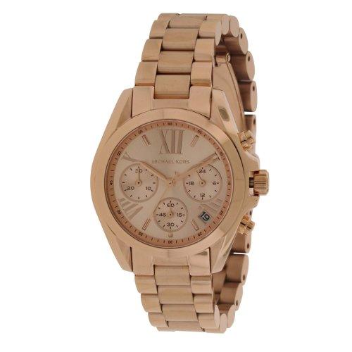 Michael Kors Bradshaw Mini Rose Gold-Tone Chronograph Ladies Watch MK5799