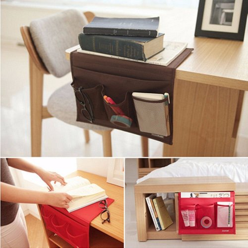 Bedside Caddy Storage Mattress Pocket Holder Remote Hanging Bed Books Organizer