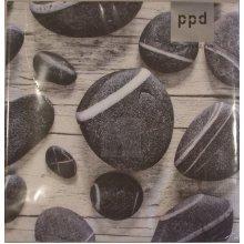 4 x Paper Napkins - Island Stones - Ideal for decoupage / Napkin Art