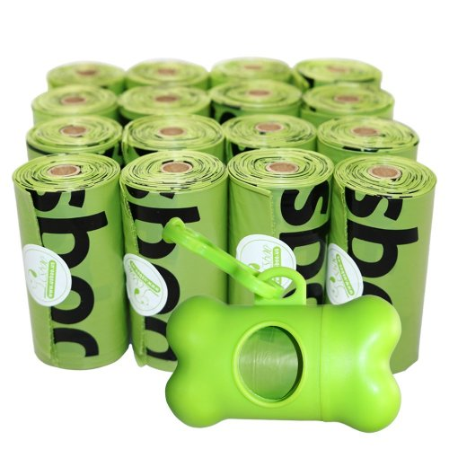 Usboo Biodegradable Dog Poo bags X 240 Bags with Dispenser Doggy Poo Bags X 16 Rolls Eco Poop Bags For Dogs Bio Dog Waste Bags