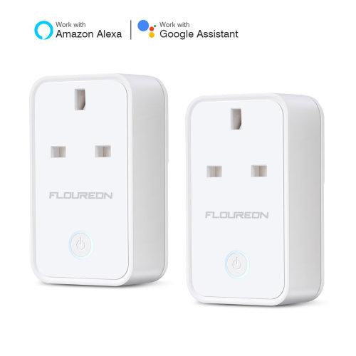 2x Smart WiFi UK Plug Socket Alexa–Remote Control Google Assistant