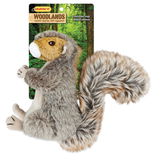 Woodlands Large Plush Squirrel Dog Toy-