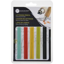 Manuscript CalliCreative Flat Lead Refill Set 10/Pkg-Assorted Colors
