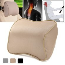 Memory Foam Silk Headrest Pillow Car Seat Neck Support Cushion
