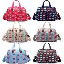 Miss Lulu 4pcs Baby Nappy Diaper Changing Bag Set Dog Print