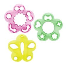 3 Pieces Emoticons Shape Cutter For DIY Bento or Create Children's Dining