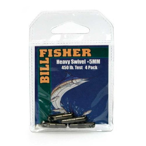 Billfisher HSB5-4Pk Heavy Swivels Fishing Swivels