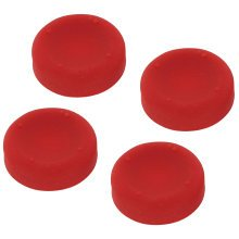 ZedLabz concave soft silicone thumb grips for Sony PS4 controller analog sticks - 4 pack red