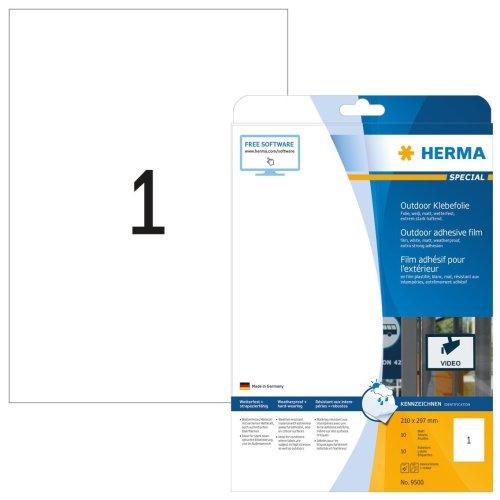 Etiketten A4 transparent 210x148 mm Folie matt 50 St.